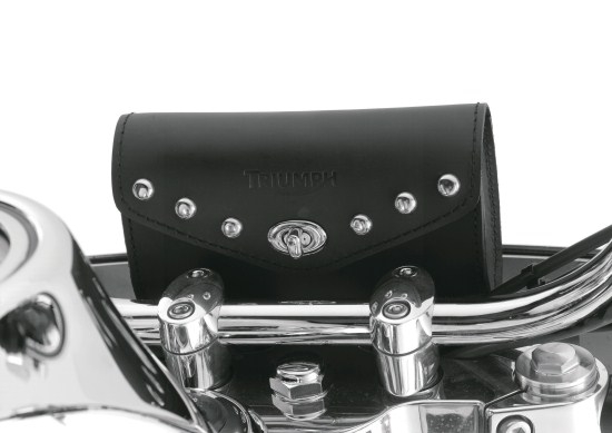Leather Windshield Bag Studded
